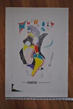 Original 1964 Richard Lindner Exhibition Poster The Vancouver Art Gallery