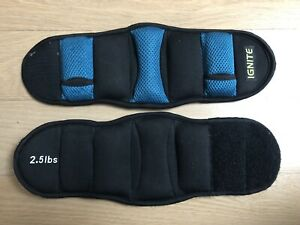 IGNITE 2.5lbs x2 arm ankle weight training fitness black turquoise