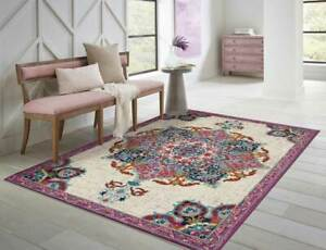 Purple Floral Area Rugs For Sale Ebay