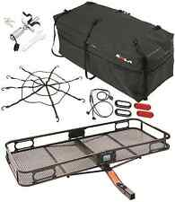 PRO SERIES CARGO CARRIER BASKET + ROLA BAG + NET + SILENT HITCH PIN & LED LIGHT
