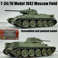 T-34 76 Russian USSR army model 1942 Moscow field 1:72 finished Easy Model tank