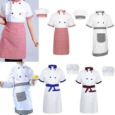 CHILDRENS GIRLS BOYS KIDS CHEF CHEFS COOK COSTUME OUTFIT WHITES HAT AGE 2-3-5-7
