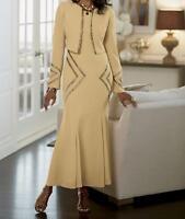 Women/'s Wedding evening party Church Dinner duster 3P pant suit plus L XL 1X 2X