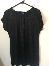 Emerge Black Embossed Top - Size S - BNWT (Brand New With Tags)
