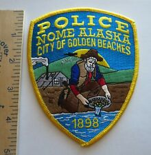 NOME ALASKA POLICE PATCH City of Golden Beaches Vintage Original