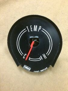 1966 Mercury Comet original factory gauge cluster mounted temperature gauge