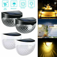 Solar Powered LED Fence Yard Lamp Light Wall Mount Outdoor Garden Path Landscape