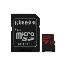 KINGSTON (64gb) MicroSD tarjeta con Adaptador Clase 10 uhs-1 U3