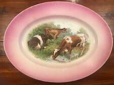 Vintage Sale 00006000 m Ware Cattle Cow Platter