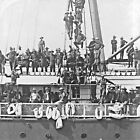 1898-THE YUCATAN-Ship Carrying Famous Roosevelt ROUGH RIDERS to Cuba-PHOTO