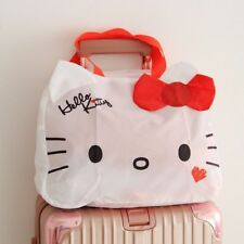 Hello Kitty Shopping Travel Foldable Luggage Bag Carry-On Duffle Bags Set Red