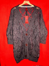 QS by s.OLIVER OVERSIZED STRICKJACKE CARDIGAN PULLOVER BoHo S M L 36 38 40 NEUW