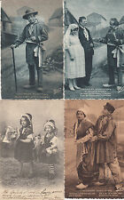 Lot 4 cartes postales anciennes SCENES ET TYPES D'AUVERGNE humour
