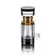 Handmade Vintage Mini Art Crystal Metal Perfume Bottle Empty Refillable Gift 4ml