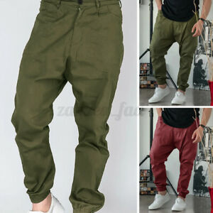 NEW Mens Slim Fit Trousers Pants Tracksuit Joggers Skinny Sports Bottoms Jogger