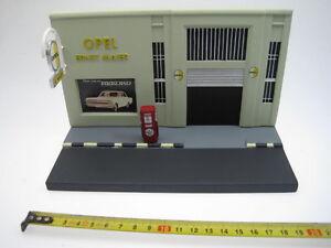 Diorama Opel Garage Gas Station Taller Gasolina - Eagle Moss 1/43 cochesaescala