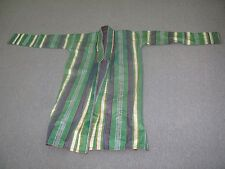 Antique Uzbek Bukhara Silk Ikat Adras Chapan Kaftan Natural Dyes