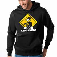 Noob Crossing Nerd Gamer Geek Sprüche Fun Comedy Kapuzenpullover Hoodie Sweater
