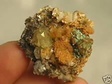 Kesterite/Malachite/Aquamarine/Quartz Crystal,Muscovite