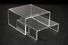 "1 set = 2pcs of Clear Acrylic Riser Stand counter display Jewelry Gift 4""L x 4""W"
