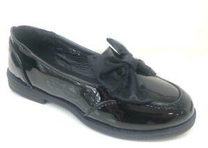 kelsi girls black school shoes sizes 8-2