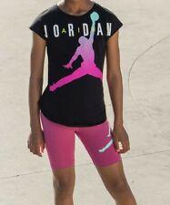 Nike Air Jordan Girls 2 PC Set Shirt & Shorts Outfit Size 6