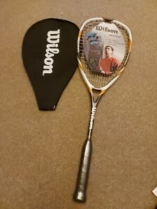 NEW WILSON Hyper Hammer 145 Power Squash Racket With Case - NEW