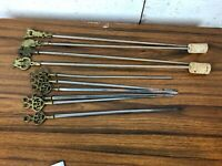 Job Lot of Vintage Brass Ornamental Kitchen BBQ Skewers