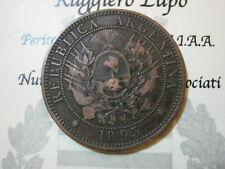 America - Argentina 2 Dos Centavos 1895 (bronze)  vf+ km 33 rare