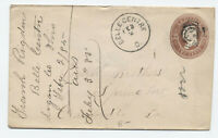 1885 Belle Centre Ohio CDS on 2ct brown stamped envelope [4117.152]