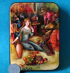 Russian LACQUER Box REPRO illustration W. Goble Goblin Market CHRISTINA ROSSETTI