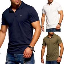 JACK & JONES Poloshirt Herren T-Shirt Polo-Hemd Kurzarm Freizeit diverse Farben