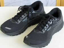 12 | Brooks Ghost-12 Men Black Mesh Lace Up Running Athletic Sneaker Shoe