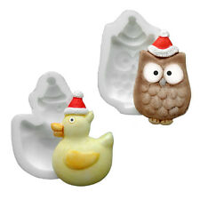 Silicone Moulds - Set Of Two Xmas - Owl & Duck - Food Safe