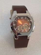 VINTAGE BROWN BRONZE SHINY STYLISTIC WATCH GIFT *MAY NEED BATTERY*