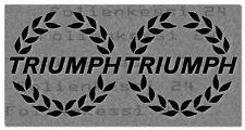 Triumph TR 7 2 Aufkleber 100mm Motorrad Auto moto sticker decal -30 Farben- T020