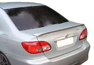 PAINTED TOYOTA COROLLA LIP FACTORY STYLE SPOILER 2003-2008