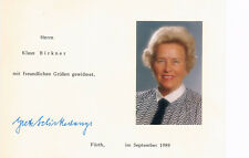 Grete Schickedanz 1911-94 orig. Autogrammfoto signiert 10x15cm Managerin Quelle