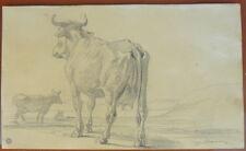 Dessin original du grand peintre Eugène DEVERIA 1805-1865