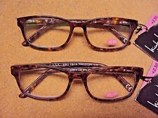 "Lot 2 Nicole Miller Women ""Lisa"" Brown Spring Hinge Reading Glasses Reader +2.50"