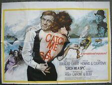 """English Original British Quad 30x40"""" CATCH ME A SPY Film Movie poster 1971 VF"""