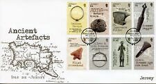 More details for jersey 2017 fdc ancient artefacts 8v set cover history & archaeology stamps