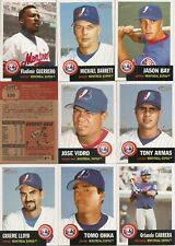 2002 Topps Heritage Montreal Expos Complete Team Set w/ SP's (13)