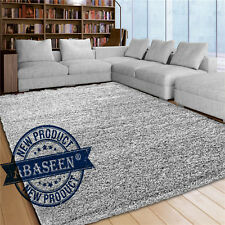 Shaggy Rug Grey Silver 963 Plain 5cm Thick Soft Pile 160 x 230cm Antished