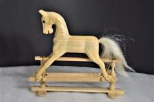 "Vintage Authentic Models Handcrafted 7"" Wood Glider Rocking Horse RH03M HTF NIB"