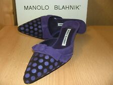 Salón manolo blahnik talla 39,5 modelo cnialo Violet lila polka dots nuevo con caja