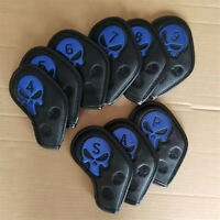 9pcs New Skull Golf Iron Covers Water-proof Iron Club Headcover for Taylormade