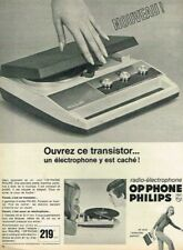 C- Publicité Advertising 1967 Transistor Radio Electrophone Op'Phone Philips