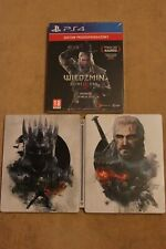 The Witcher 3 - The Wild Hunt Steel Case PS4 - (Game not included) Brand New