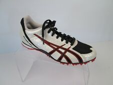 Asics Track Running Shoes Hyper MD GY705 Womens 7.5 Black White Red W Spikes